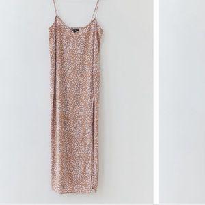 Motel Leopard Print Slip Dress